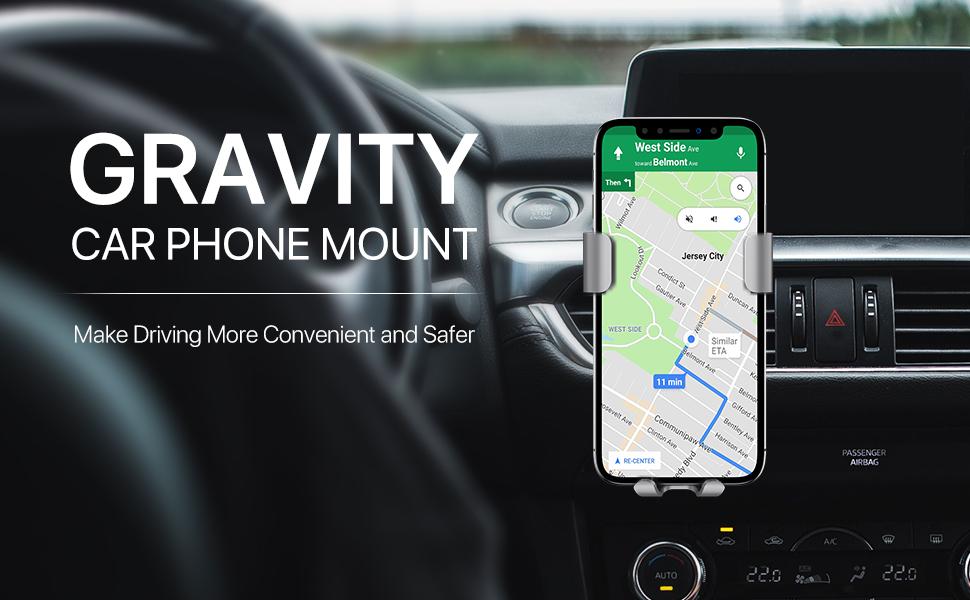 gravity car phone mount