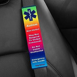 Rainbow Autism Non-Verbal Medical Alert Help Belt