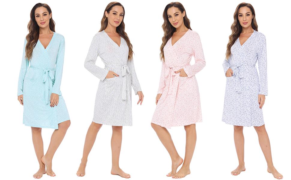 floral print lounge robe