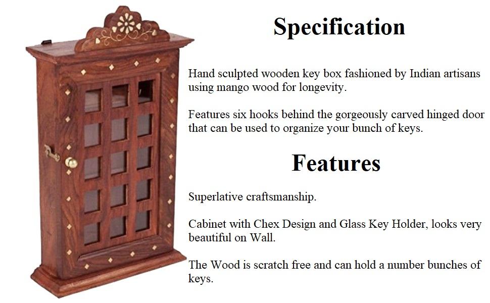 ADA Handicraft Wooden Key Holder