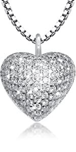 heart cremation urn necklace for ashes