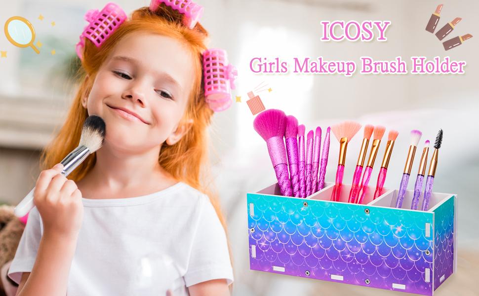 girls makeup brush holder