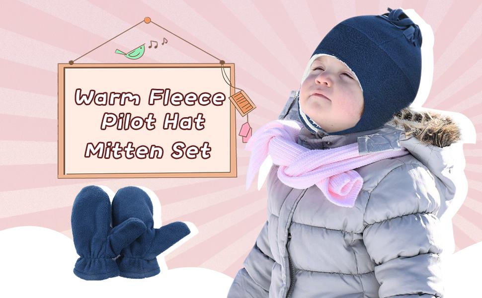 warn fleece poilot hat