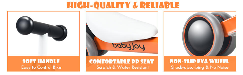soft handle, comfortable seat, non-slip wheel