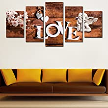 Love Angel Wall Art Canvas 5 Pieces