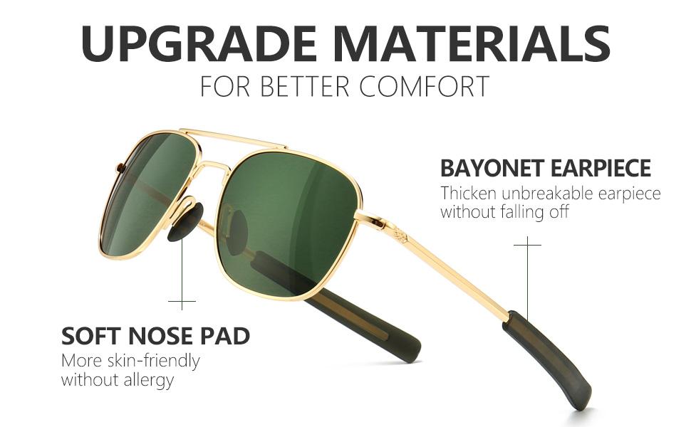 upgraded materials