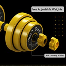 Free Adjustable Dumbbell Weights