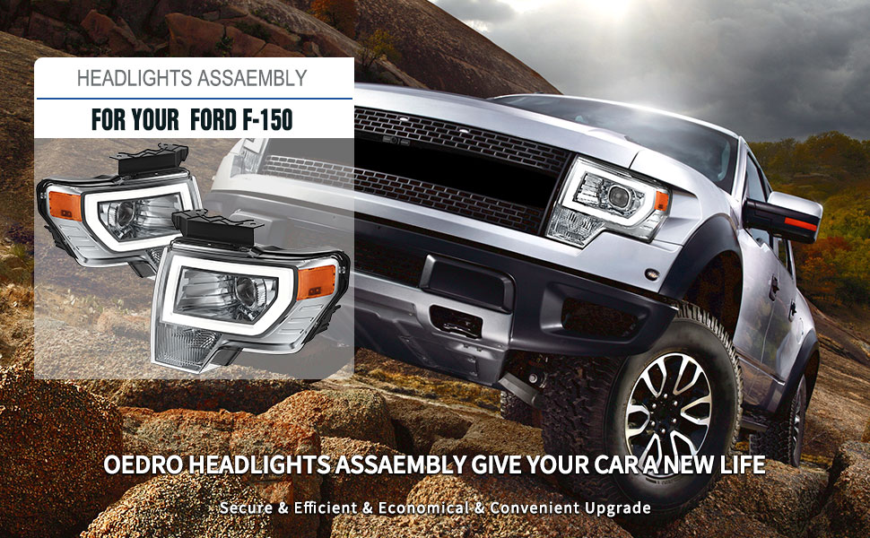 projector headlights for ford f-150 2009-2014
