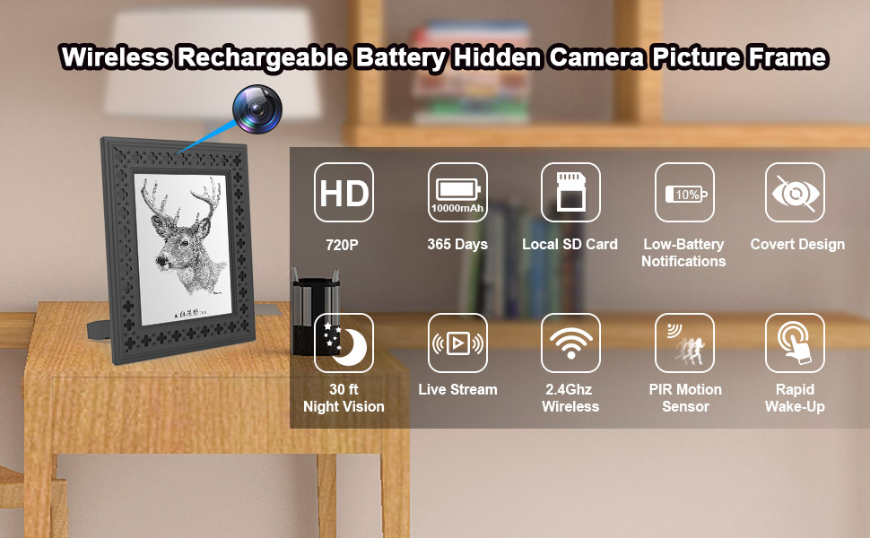 battery security camera picture frame