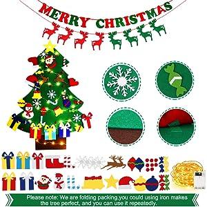 Detachable 45 Pcs Christmas Ornaments
