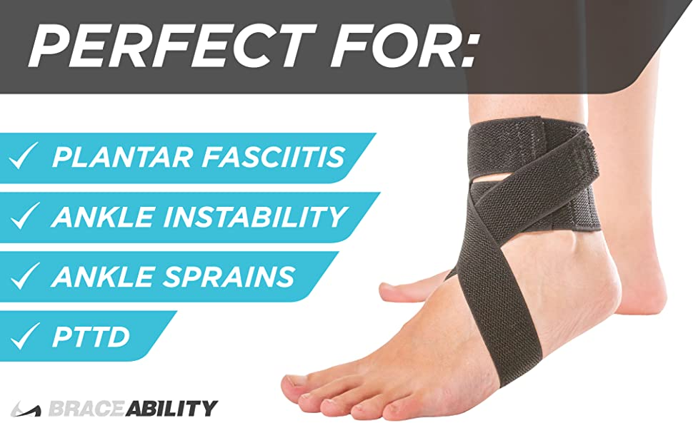 soft ankle brace from plantar fasciitis, pttd, ankle sprains, and ankle instability