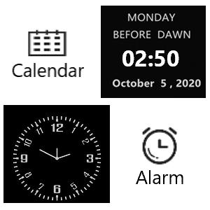 Calendar and clock features
