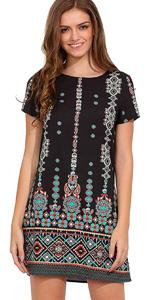 Aztec Print Summer Shift Dress