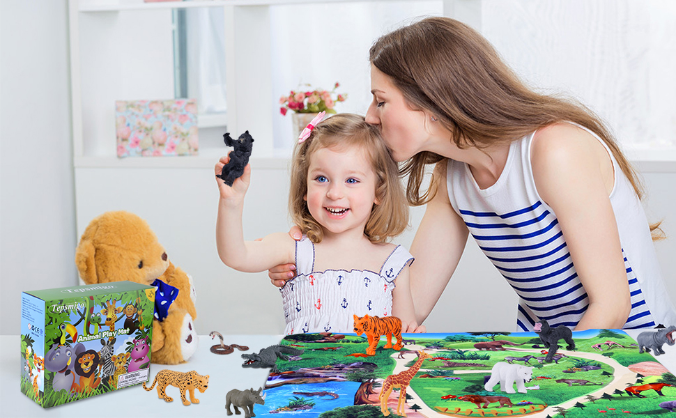 zoo toys set gifts for 3 year old kid