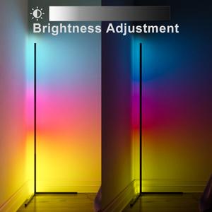 Brightness Adjustment Display About Corner Floor Lamps