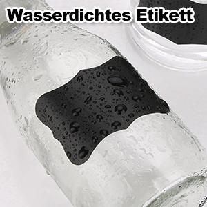 Aktendeckeln usw Marmeladen 300PCS Wasserdichte Etiketten Selbstklebend mit Kreidemarker Flaschen Beschriften Aufkleber f/ür Gl/äser 6x4cm K/üche Gew/ürzgl/äser Mitening Tafel Aufkleber