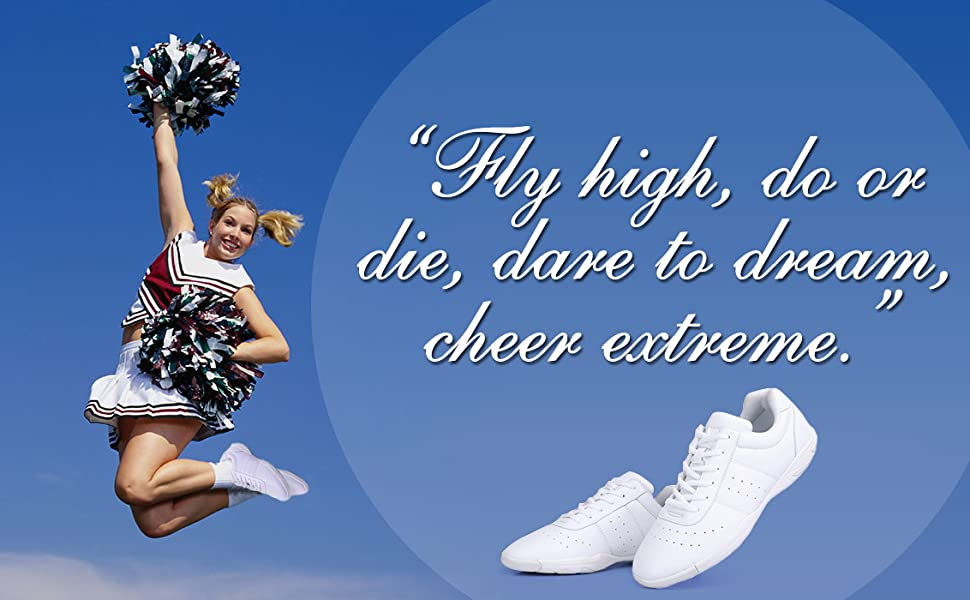 cheerleading shoes womans women's white sneaker dance shoe sneakers girl cheer shoes youth size 7
