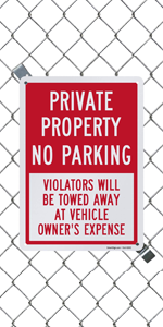 Private Property No Parking