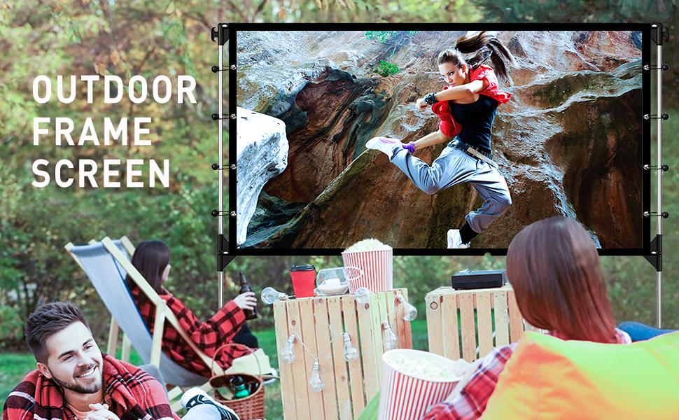 Outdoor Projector Screen 100''