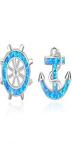 anchor earrings for women