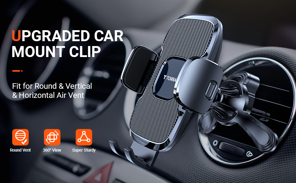 Upgraded car mount clip