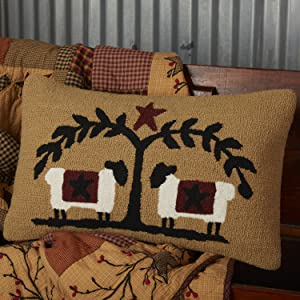 Heritage Farms Sham primitive country Americana VHC Brands quilted bedding accessory pillow bedskirt