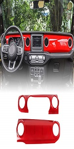 Center Console Dash Panel Cover for 2018-2020 Jeep Wrangler JL JLU, for 2020 Jeep Gladiator JT