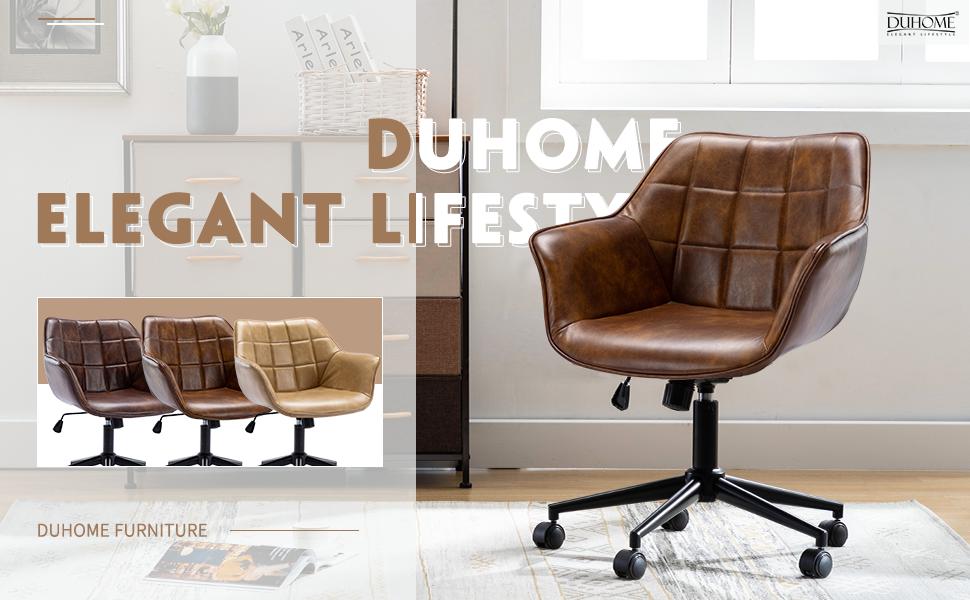 Duhome Modern Home Office Chair, Task Chair Height Adjustable Computer Desk Chair  Armchair