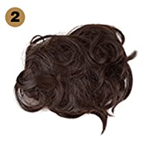 Synthetic Hair Bun Extensions Messy Hair Scrunchies Hair Rose Bun for Women