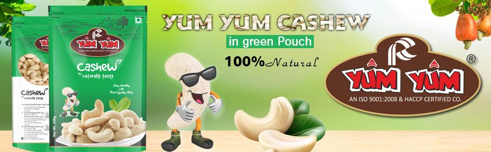 Yum Yum Cashew Green Pouch
