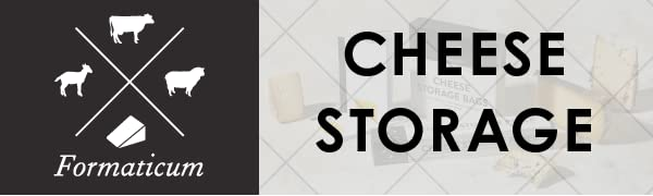 Formaticum cheese storage logo with sheep, cow, goat, and cheese wedge all separated by large X.