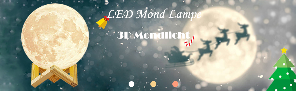 led rgb moon lamp