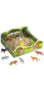 CoolSand Play Sand Safari 3D Sandbox Kit
