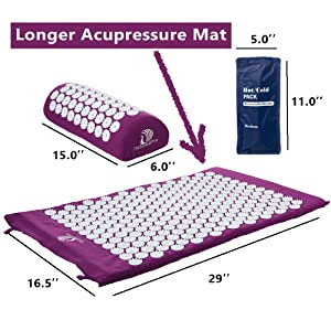 acupuncture mat pillow large sizes acupressure