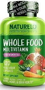 NATURELO Whole Food Multivitamin for Women 50