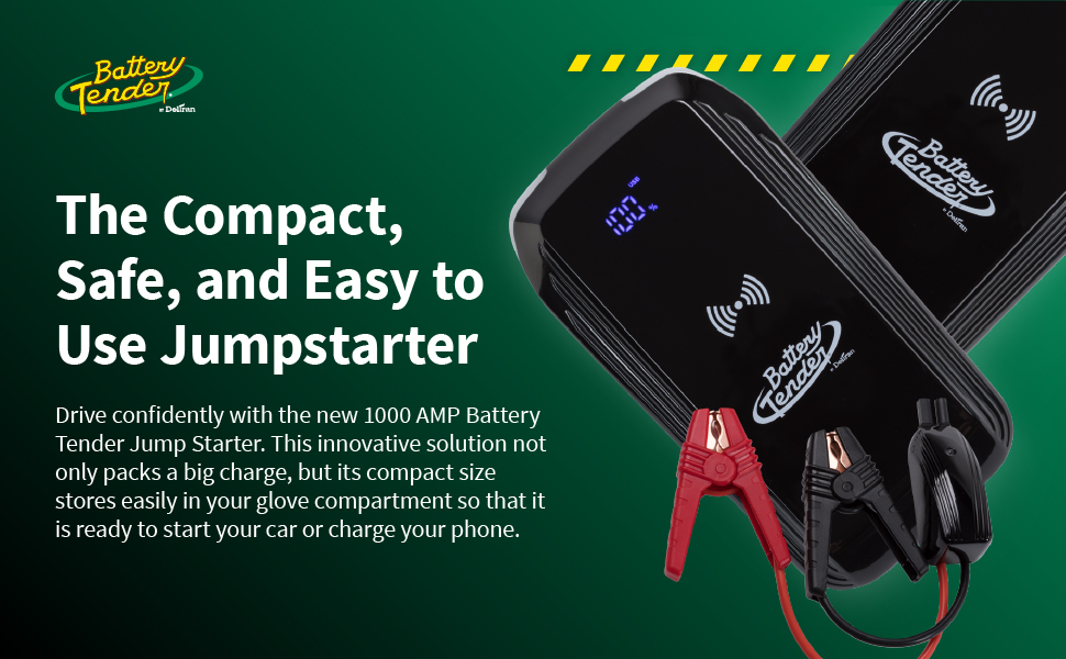 The compact, safe, and easy to use jump starter.