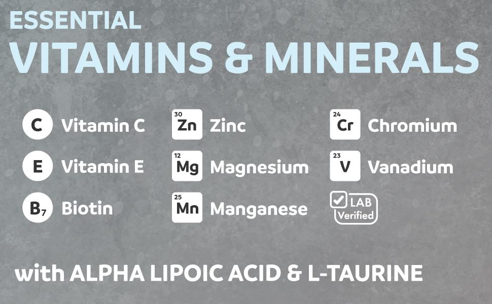 Blood Sugar Support Vitamins & Minerals - Natural Supplement