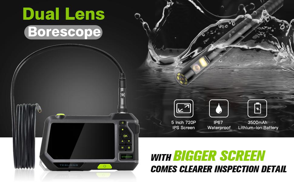 Teslong Dual Lens Industrial Endoscope