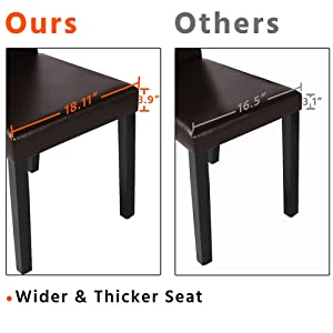 wider and thicker seat