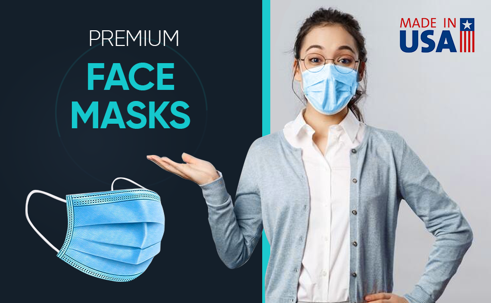 3 Ply Face Masks Made In USA