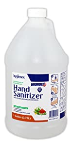 Hygienex Hand Sanitizer 1 Gallon Gel Scented with Cucumber Melon 72% Alcohol
