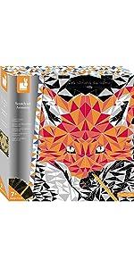 Janod Crafts Scratch Art Animetrix Geometric Animal Designs Kit