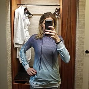 Minipeach Women's Pullover Long Sleeve Hoodies Coat Loose Casual Sweatshirts
