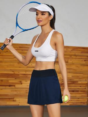 Women's Athletic Tennis Skirt with Ball Pocket - Workout Golf Exercise & Running Skort