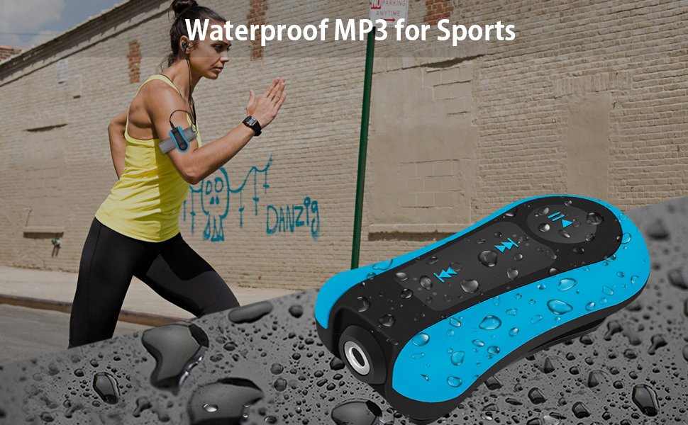 Clip 8GB IPX8 Waterproof MP3 Player