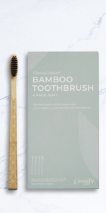 zenify earth bamboo charcoal toothbrush toothpaste eco gift sustainable toddler kids floss
