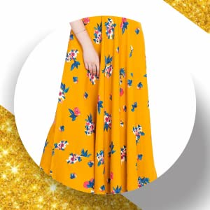 B08DD5WFFQ RUDRAKRITI Women's Floral Printed Crepe Maxi Dress SPN FOR-1