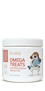 Omega Treats with Wild Alaskan Salmon Oil for Dogs