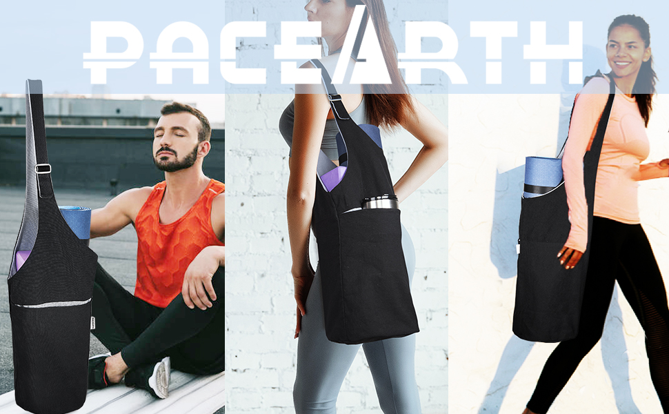 Yoga Mat Bag  Large Size Pocket and Zipper Pocket, Fit Most Size Yoga Mats, Long Tote with Pocket