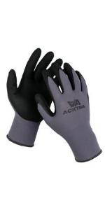 WG019 safety work gloves nylon coated latex Nitrile MicroFine Foam Finish Coated Acktra